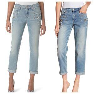 NYDJ Westland Jeweled Boyfriend Jeans